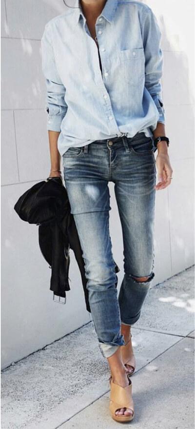 Jean femme : comment trouver le jean idéal, ici total look jean