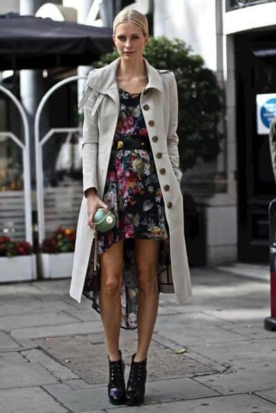 porter ta petite robe d'été en automne