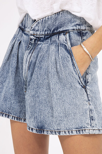 Short en jean taille haute loyal Iro Paris