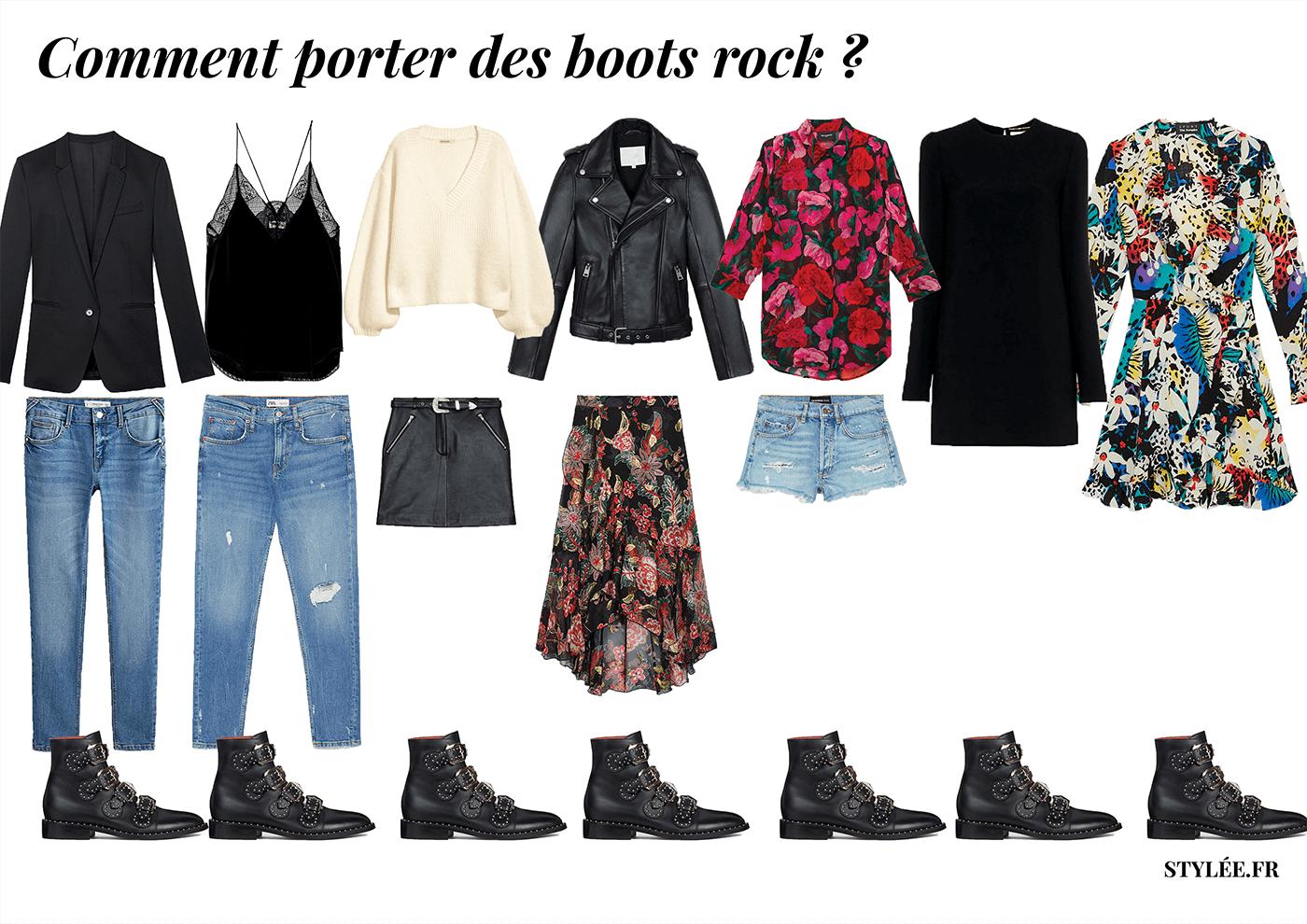 Comment porter des boots rock copie