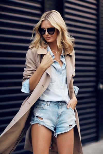 Short en jean pour femme : comment bien le choisir et le porter avec style, ici short destroy