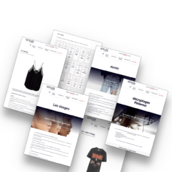 Pages du blog (exemples)