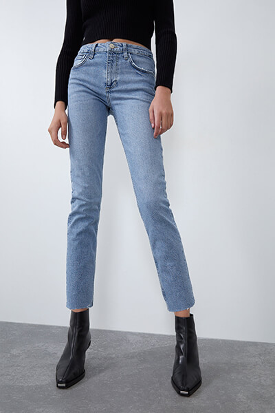 Jean taille haute slim Zara