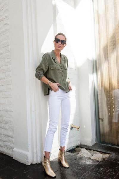 Bottines dorées - Comment porter des bottines avec un pantalon