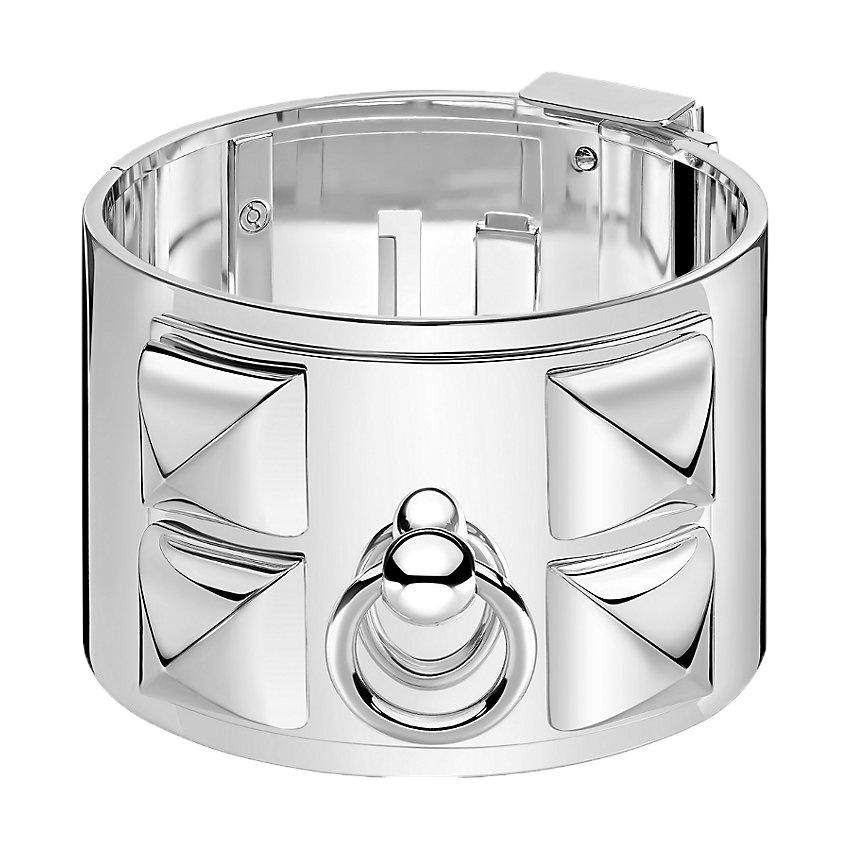 Bracelet collier de chien Hermès argent