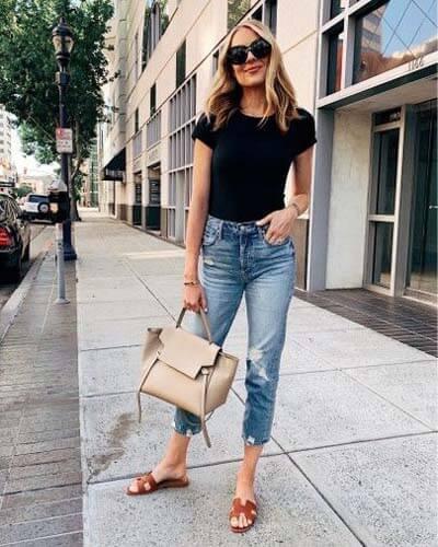 Claquettes Hermès : stylée avec des chaussures plates