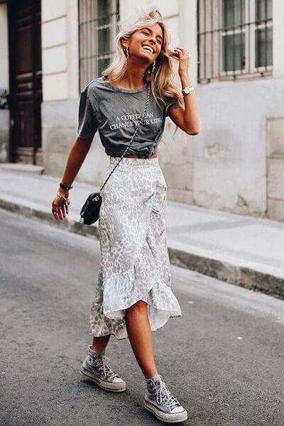 Converse jupe longue