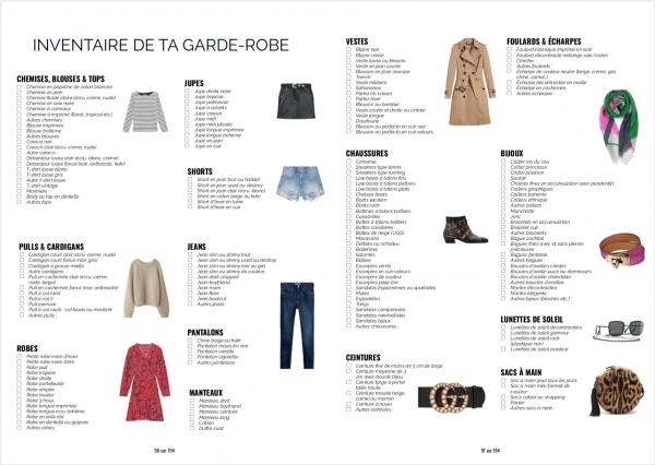 Ebook commencer - inventaire de la garde-robe