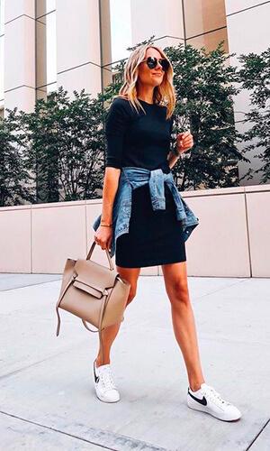 Fashion Jacskon sneakers et petite robe noire