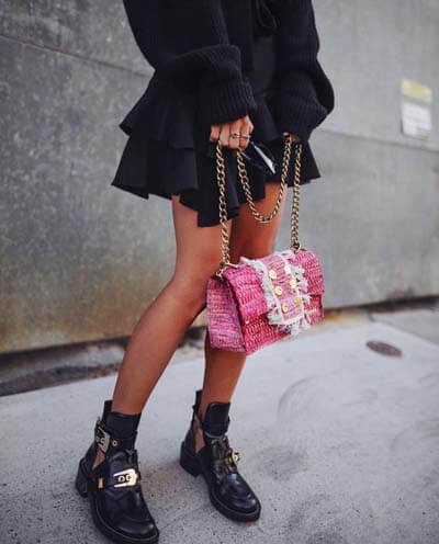 Tenue avec une robe noire