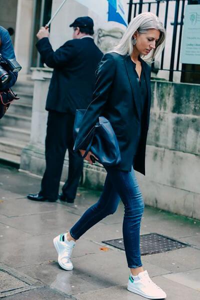 Jean brut blazer noir