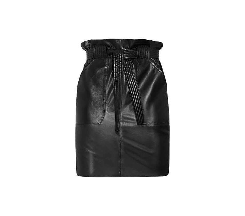 Mini-jupe en cuir
