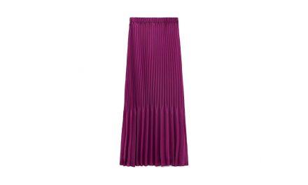 La jupe midi plissée