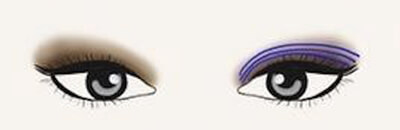 Maquillage des monopaupières