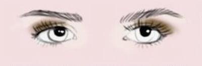 Maquillage des yeux ronds