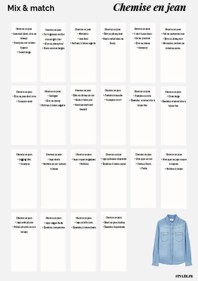 Mix & match chemise en jean