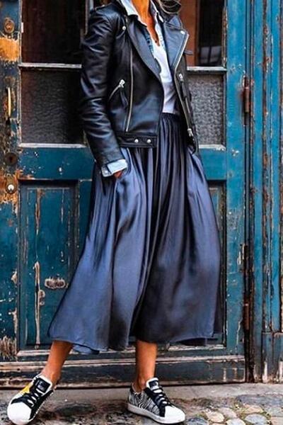 Robe noire perfecto converse