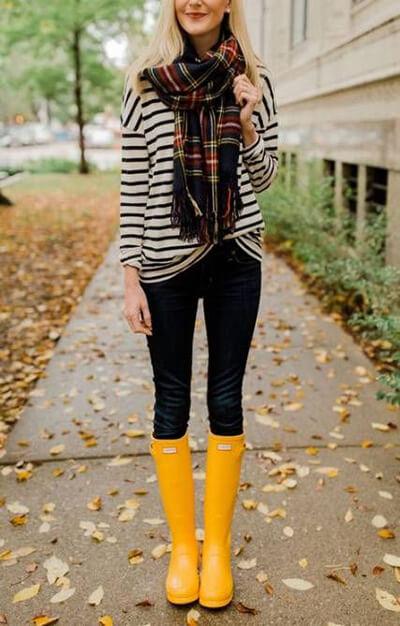 Pinterest bottes de pluie jaunes