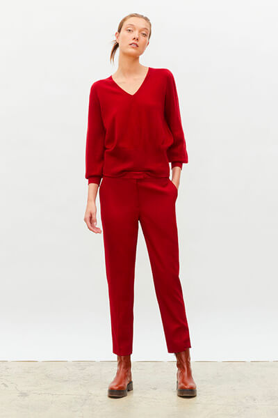 Tendance automne/hiver 2020 : Tenue monochrome rouge