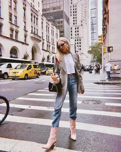 Comment porter des Santiags (femme) : Shioko santiags rose