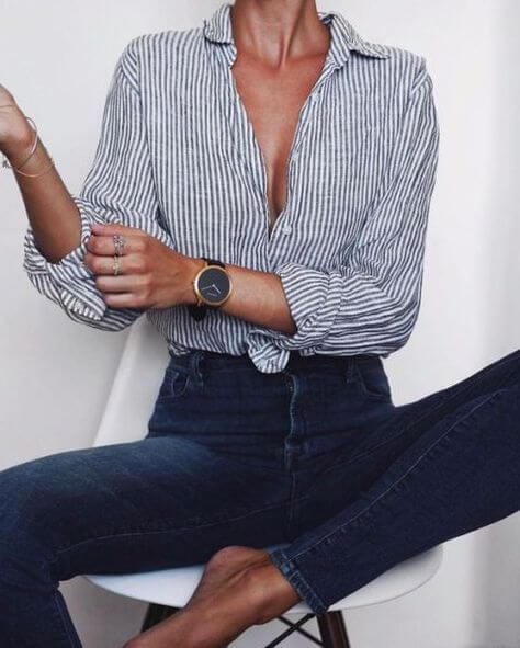 Skinny brut et chemise