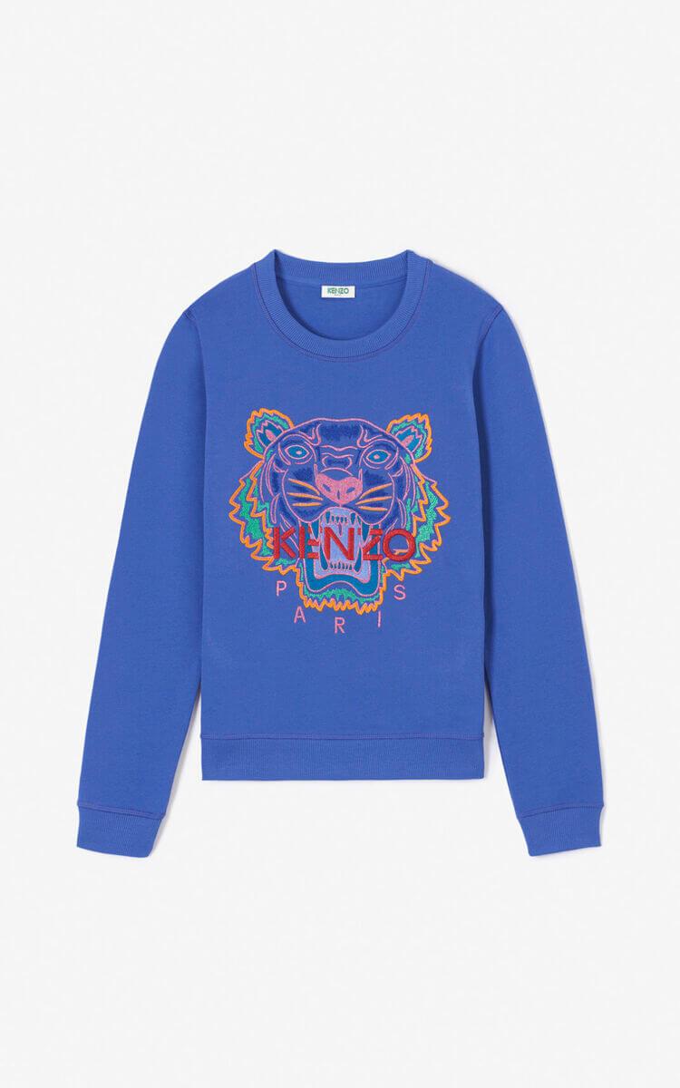 Sweat-shirt Kenzo Tigre bleu