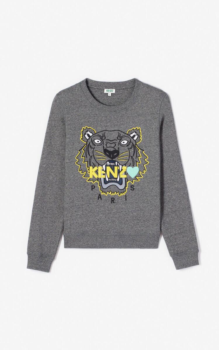 Sweat-shirt Kenzo Tigre gris