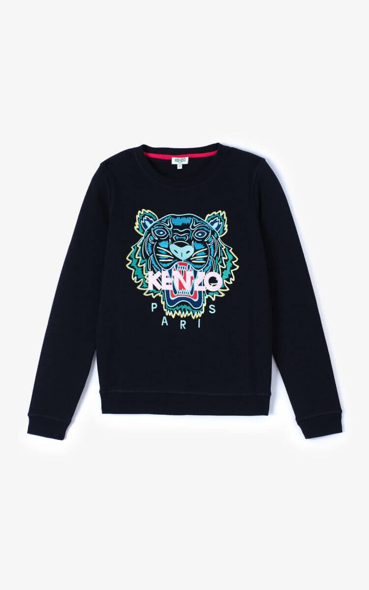 Sweat-shirt Kenzo Tigre noir