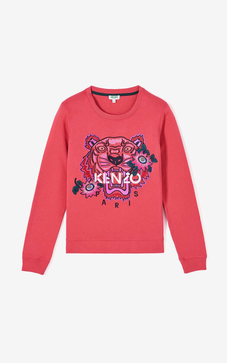 Sweat-shirt Kenzo Tigre rouge