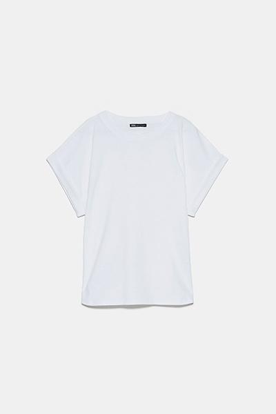 T-shirt blanc Zara