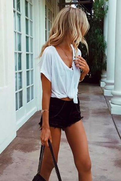 T-shirt loose et short noir