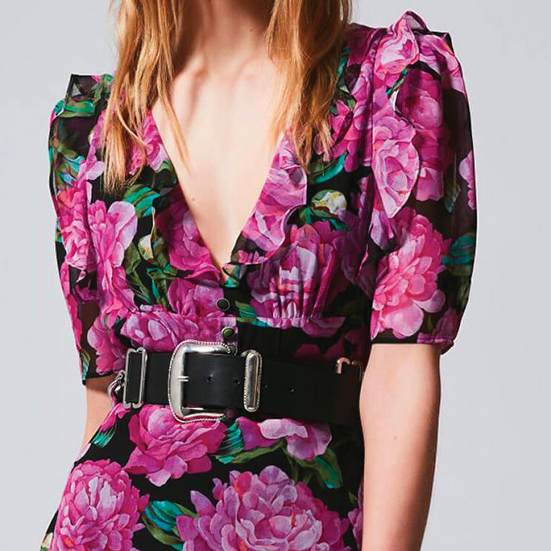 Robe imprimé floral The Kooples tenue aboutie