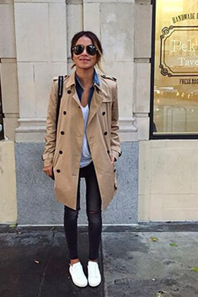 Trench sneakers casual-chic