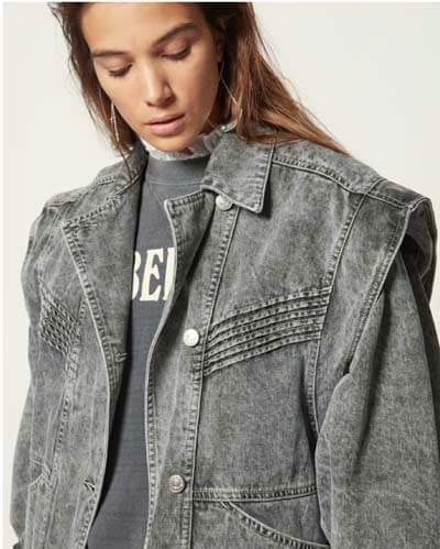 Veste en jean oversize Isabel Marant