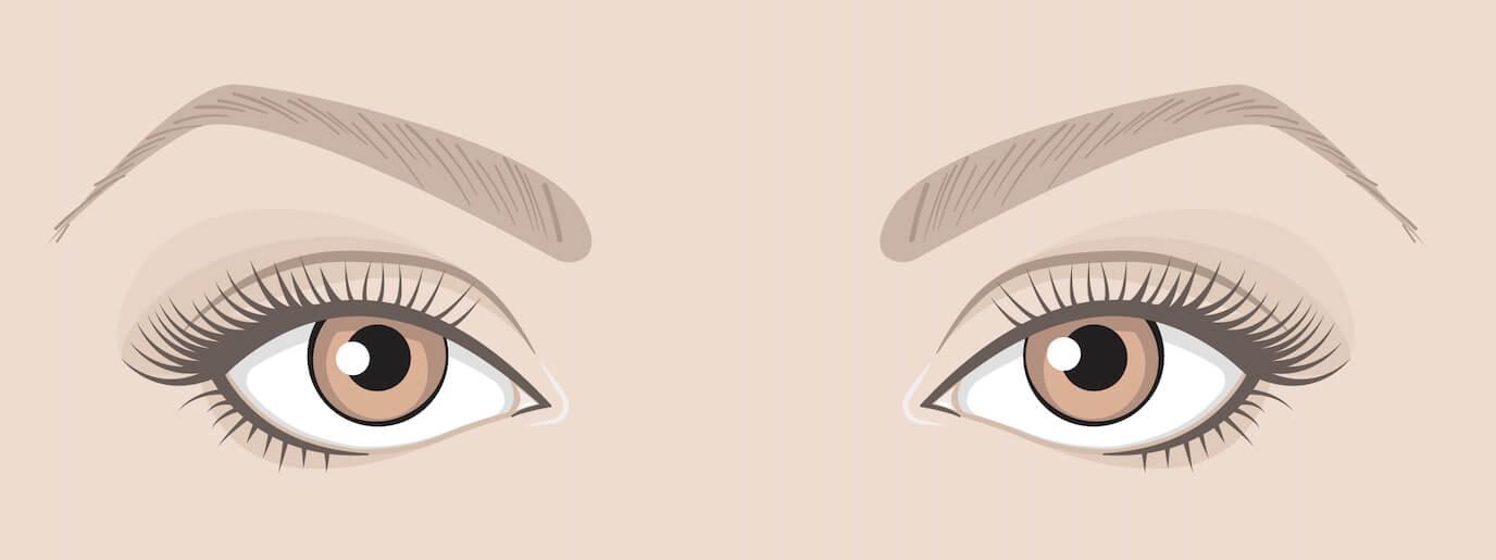 Maquiller tes yeux en fonction de leur forme :  Yeux écartés