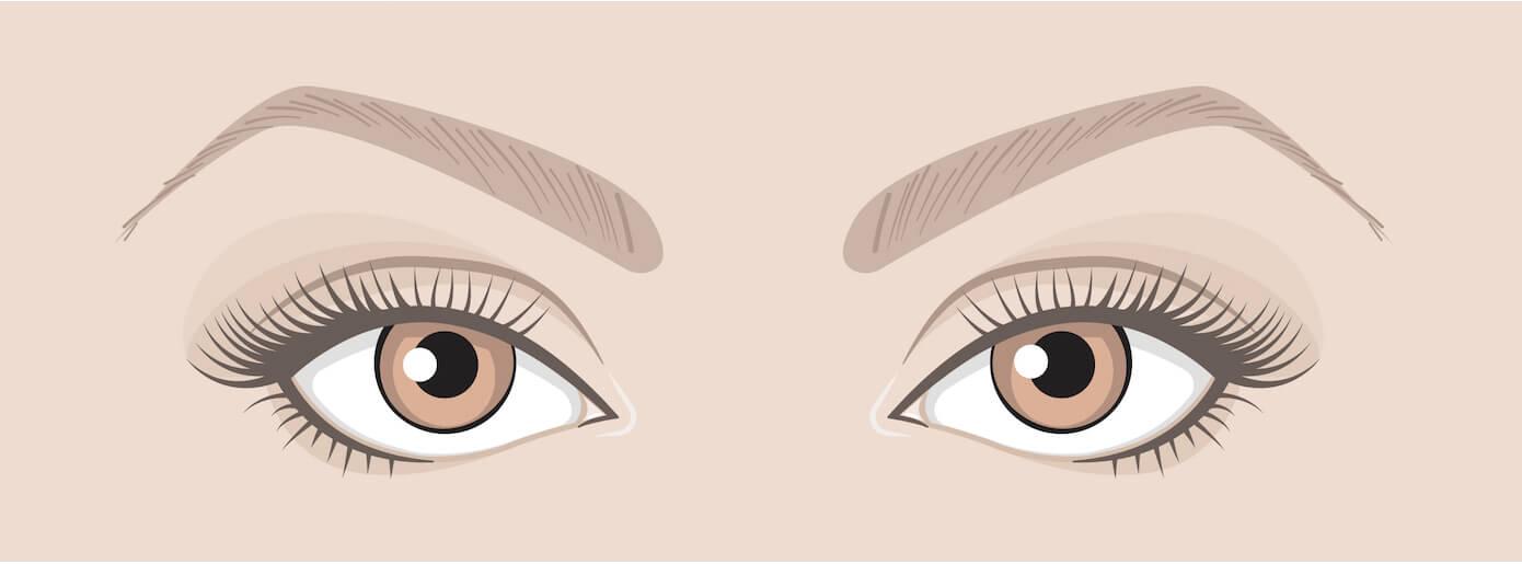 Maquiller tes yeux en fonction de leur forme :  Yeux rapprochés