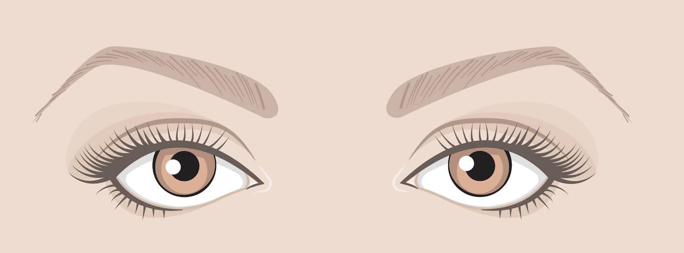 Maquiller tes yeux en fonction de leur forme :   Yeux tournés vers le bas