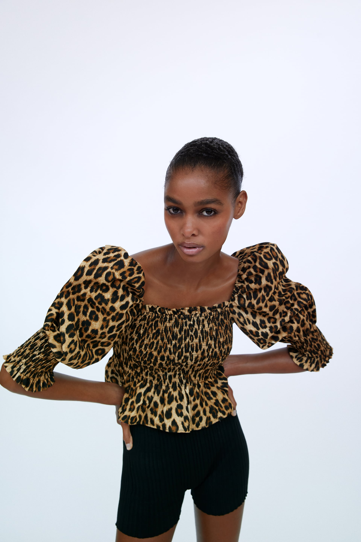 Veste léopard Zara