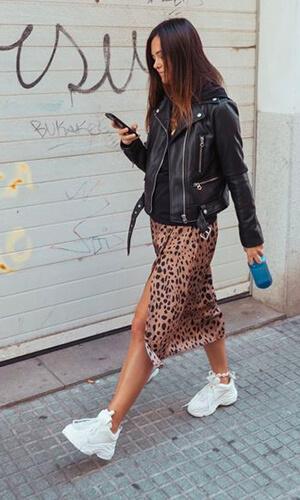 leopard et sneakers running