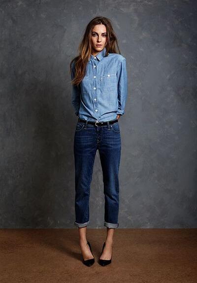 total look jean pantalon brut